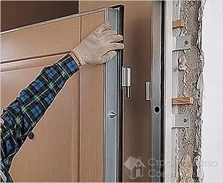 Межкомнатные двери с порогом установка своими руками