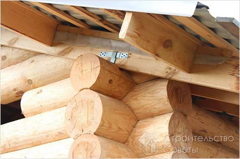 Сборка стропильной системы крыши