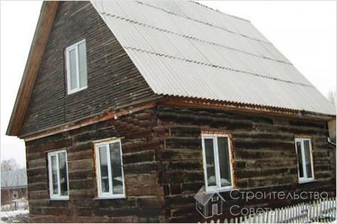 Строим дом из шпал своими руками