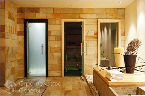 Виды дверей для бани и сауны