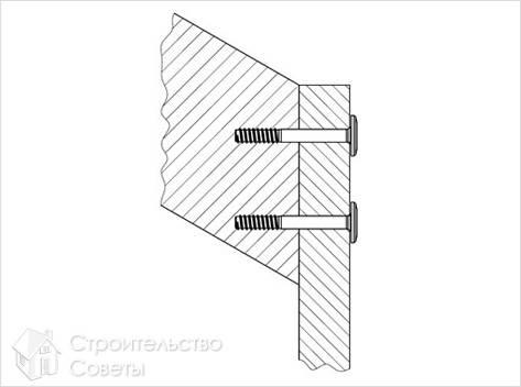 Винт для лестничных конструкций