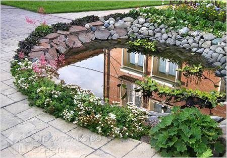 Водоем загородного дома
