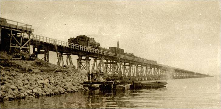 Так выглядел мост в 1944 году