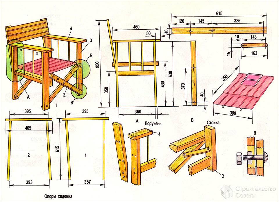 Как сделать стул своими руками - самостоятельное изготовление стульев чертеж