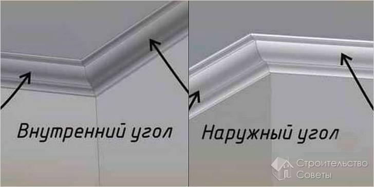 Стыковка потолочного плинтуса