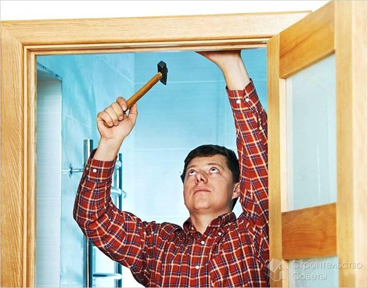 Чем прикрепить наличники на межкомнатные двери